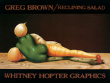 Reclining Salad Poster by Greg Brown