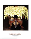 El Vendedor de Alcatraces Kunstdrucke von Diego Rivera
