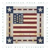 Flag Square Poster von Warren Kimble