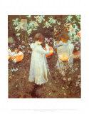 Nelke, Lilie, Lilie, Rose Kunstdruck von John Singer Sargent
