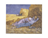 Mittagsschlaf (nach Millet), ca. 1890 Poster von Vincent van Gogh