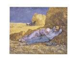 Descanso no meio do dia, após colheita, cerca de 1890 Pôsters por Vincent van Gogh