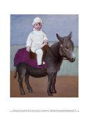Paulo en un burro Láminas por Pablo Picasso