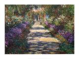 Il giardino dell'artista a Giverny Poster di Claude Monet