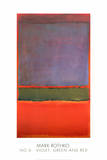 Nr. 6 (fiolett, grønn og rød), 1951 Plakat av Mark Rothko