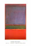 ナンバー 6 (青紫、緑、赤) 1951年 (No. 6) ポスター : マーク・ロスコ