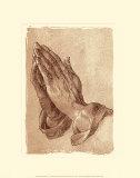 Main priant Poster par Albrecht Dürer
