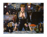 Bar at the Folies-Bergere, 1882 Prints by Edouard Manet