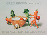 Party Dip Posters by Greg Brown