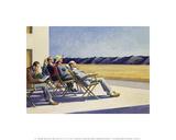 Menschen in der Sonne Poster von Edward Hopper
