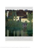 Unterach Manor on the Attersee Lake, Austria Plakat af Gustav Klimt