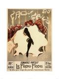 Vintage  Le Frou  Frou Póster por Lucien-Henri Weiluc