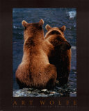 Two Bear Cubs Posters por Art Wolfe
