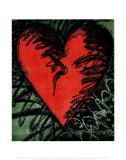 Rancho Woodcut Heart Pôsters por Jim Dine