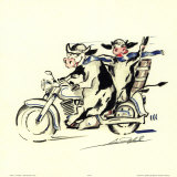 Ragazzi grassi in gita Poster di Gockel, Alfred