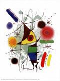 De zanger Posters van Joan Miró