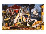 Mediterrane Landschaft Poster von Pablo Picasso