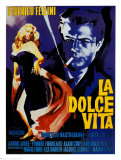La Dolce Vita de Federico Fellini Affiches