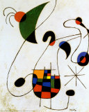 De melancholische zinger Posters van Joan Miró