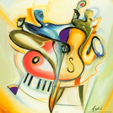 Bass-Ic Instinct Poster von Alfred Gockel