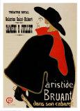 Aristide Bruant Láminas por Henri de Toulouse-Lautrec