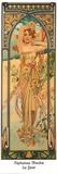 Tagen Kunstdrucke von Alphonse Mucha