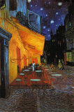 The Cafe Terrace on the Place du Forum at Night, Arles, 1888 Print van Vincent van Gogh