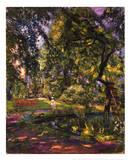 Garten in Godrammstein Poster von Max Slevogt