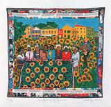 The Sunflower's Quilting Bee at Arles Édition limitée par Faith Ringgold