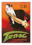 Tonsa, der perfekte Schuh Kunstdrucke von Achille Luciano Mauzan