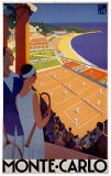 Monte-Carlo, Francia Poster di Roger Broders