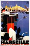 Marseille Poster af Roger Broders