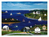 Summers in Maine Poster van Barbara Appleyard