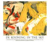 In the Sky Posters por Willem de Kooning