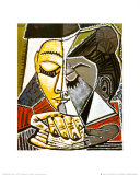 Hoofd van lezende vrouw Posters van Pablo Picasso