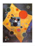 Akzent in Rosa Prints by Wassily Kandinsky