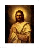Figure of Christ Posters af Heinrich Hofmann