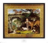 The Peaceable Kingdom of the Branch Poster por Edward Hicks