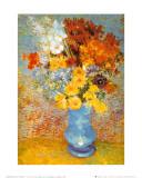 花瓶の雛菊とアネモネ 1887年 高品質プリント : フィンセント・ファン・ゴッホ