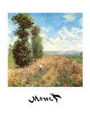 Field with Poppies Poster av Claude Monet