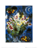 Still Life with Flowers Kunst af Marc Chagall