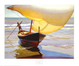 Fishing Boat, Spain Prints by Arthur Rider