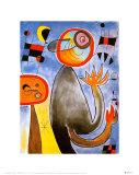 Les échelles en roue de feu traversent l'azur Affiches par Joan Miró