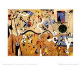 Carnival of Harlequin Plakat av Joan Miró