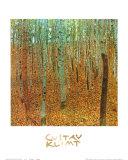 Forêt de hêtres Affiches par Gustav Klimt