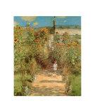 The Garden at Vetheuil Plakat af Claude Monet