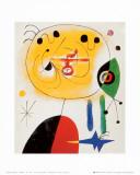 Vrouw met ster met haren Kunst van Joan Miró