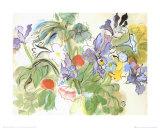 Coquelicots Et Iris Affiches par Raoul Dufy