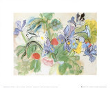 Poppies and Iris Posters af Raoul Dufy