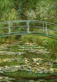 Die japanische Brücke Poster von Claude Monet